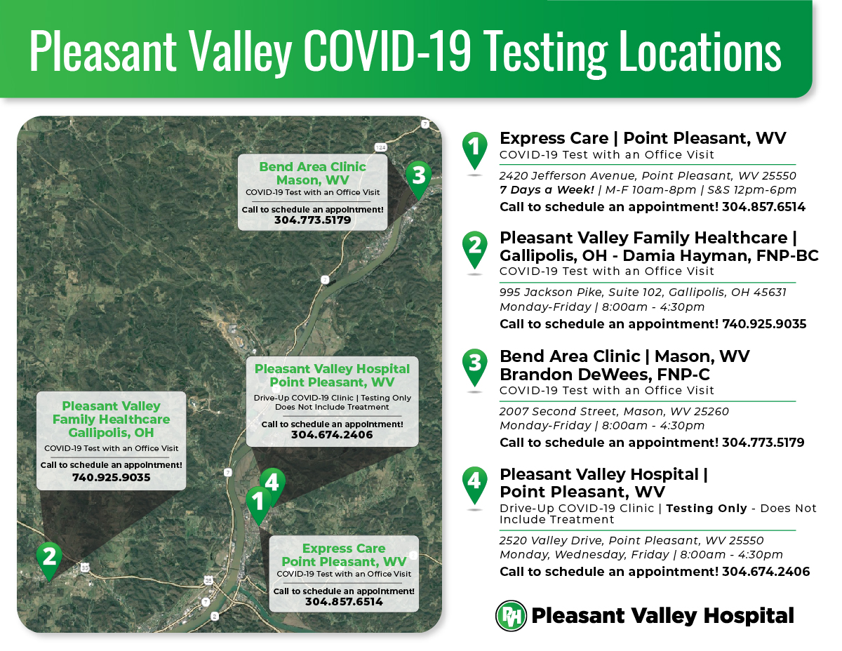 COVID Testing Locations Map
